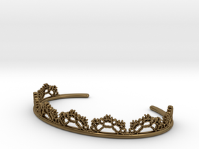 Open Lace Cuff - small in Polished Bronze
