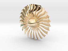 Turbine Alliance 80mm in 14k Gold Plated Brass