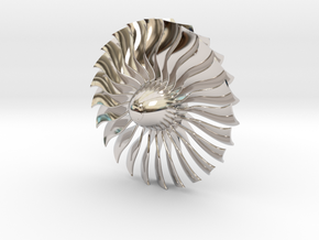 Turbine Alliance 80mm in Rhodium Plated Brass