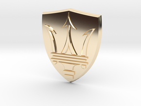 Maserati in 14k Gold Plated Brass