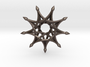 9 Sharp Ribs - 4.5cm in Polished Bronzed Silver Steel