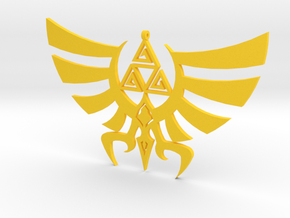 Triskele Hyrule Crest Pendant in Yellow Strong & Flexible Polished