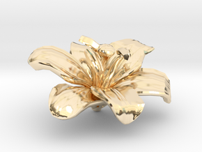 Lily Flower Rock 1 - S in 14K Yellow Gold