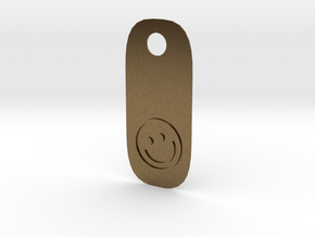Happy Tag in Natural Bronze