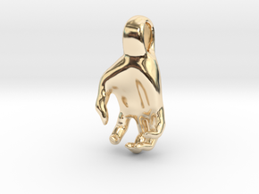 Luke's Hand (pendant) in 14k Gold Plated Brass