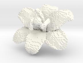 Lily Flower 1 Block - M in White Processed Versatile Plastic