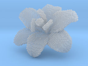Lily Flower 1 Block - M in Smooth Fine Detail Plastic