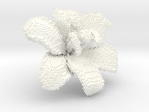 Lily Flower 1 Block - S2 in White Processed Versatile Plastic