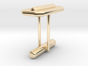Cufflink Style 15 in 14k Gold Plated Brass