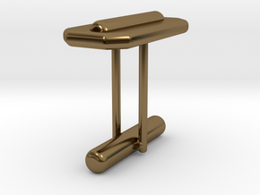 Cufflink Style 15 in Polished Bronze