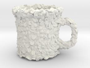 Coffee Bean Mug  in White Natural Versatile Plastic