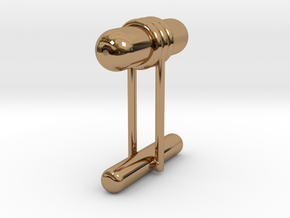 Cufflink Style 11 in Polished Brass
