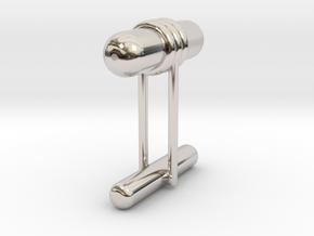 Cufflink Style 11 in Rhodium Plated Brass