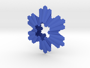 Koch Snowflake Ornament in Blue Processed Versatile Plastic