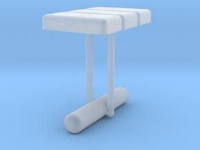 Cufflink Style 13 in Smooth Fine Detail Plastic