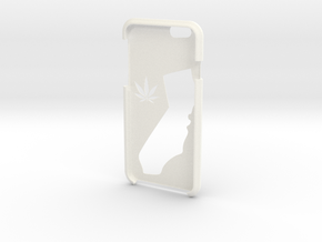 California Legalize It Iphone 6s Case  in White Strong & Flexible Polished