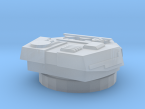 Devastator Turret (1cm) in Frosted Ultra Detail