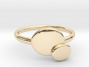 Double O ring size Medium in 14k Gold Plated Brass