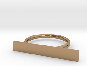 Space Ring (Size Medium) in Polished Brass
