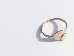 Double O ring size Medium in Natural Bronze