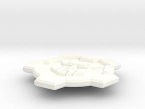 Wrecker Button - Single in White Processed Versatile Plastic