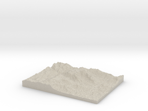 Model of Chimney Rock in Natural Sandstone
