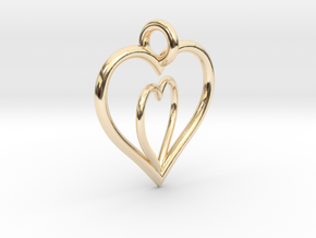 Love Hearts in 14k Gold Plated Brass