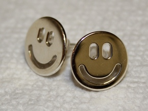 Smiley Earrings in Premium Silver