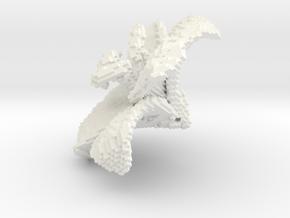 Lily Flower 1 Block - L in White Processed Versatile Plastic
