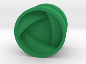 SHIELD_1814CS_LEFT - LEGO-compatible Custom Rims in Green Strong & Flexible Polished