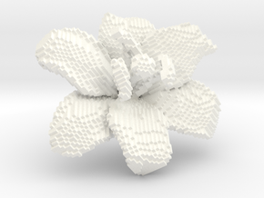 Lily Flower 1 Block - XL in White Processed Versatile Plastic