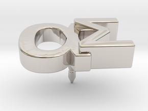 Aspie Symbol Lapel/Tie Pin in Rhodium Plated Brass