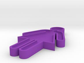 washroom key 50% scale in Purple Processed Versatile Plastic