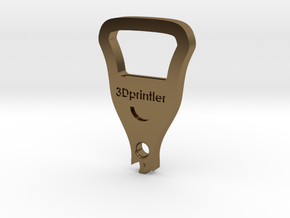 Bottle Opener - 3Dprintler  in Polished Bronze