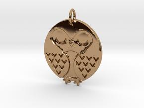 Sleeping Bird in Polished Brass