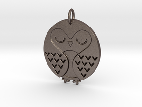 Sleeping Bird in Polished Bronzed Silver Steel
