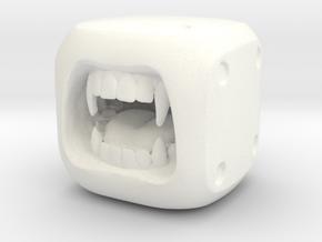 Dice Vampire- Monster Dice - 16mm in White Processed Versatile Plastic