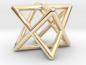 Mini-Merkaba - Rounded - 1cm in 14k Gold Plated Brass