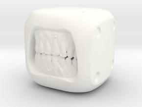 Dice Undead - Monster Dice - 16mm in White Processed Versatile Plastic