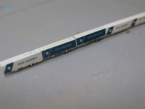 RoRo Trailers 10x5 (1:1250) in Smooth Fine Detail Plastic