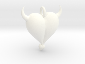 Evil Heart in White Processed Versatile Plastic