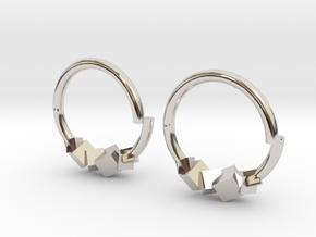 Cubic Earring in Platinum