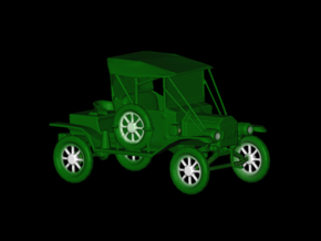 Replica Clasic Car Ford 1913 T12 by Space 3D in Green Processed Versatile Plastic