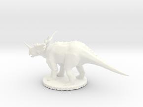 Replica Dinosaurs World Styracosaurus  in White Processed Versatile Plastic