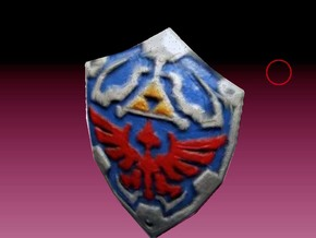 hilian shield Zelda colored for lego in White Strong & Flexible
