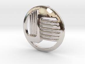 ROUND 6-1c in Rhodium Plated Brass