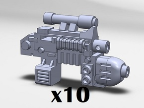 10x Plasma Combination Weapons in Smooth Fine Detail Plastic