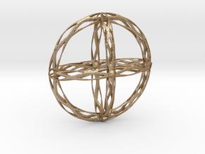 Cross Pendent in Matte Gold Steel