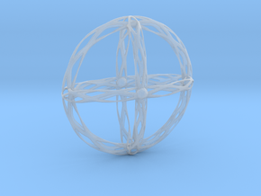 Cross Pendent in Smooth Fine Detail Plastic