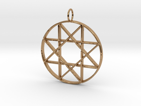 Star of Isis in Polished Brass